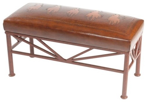 Posse Simple Iron Bench traditional-upholstered-benches