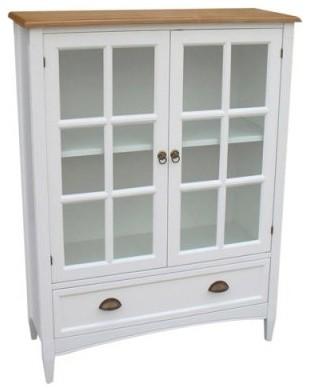 Wayborn Bookcase with Doors - White - Modern - Storage ...