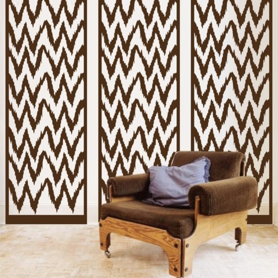 ShaNickers Ikat Panel Wall Decal By URBANaccentHOME eclectic-decals