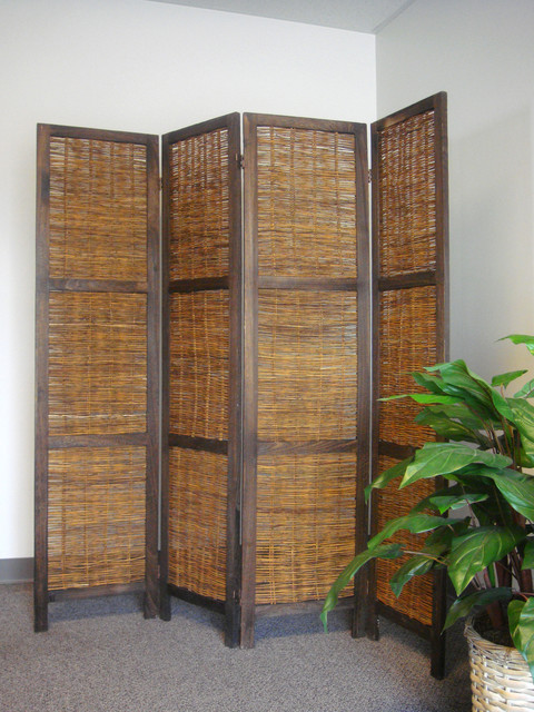 Bangkok folding screen room divider asian screens and room dividers - Collapsible room divider ...