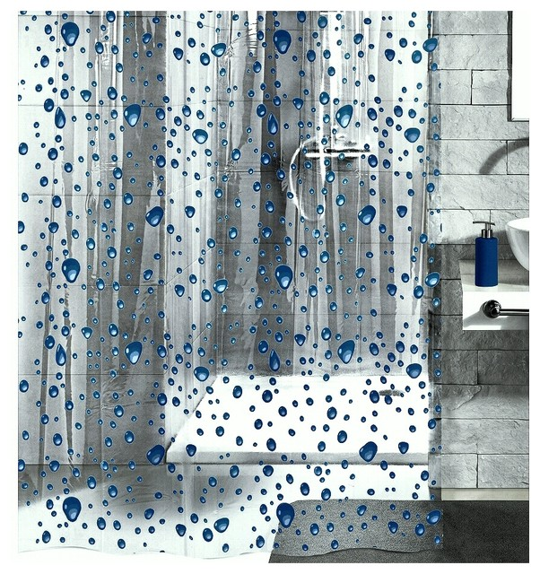 pvc free shower curtain bubble design contemporary. Black Bedroom Furniture Sets. Home Design Ideas