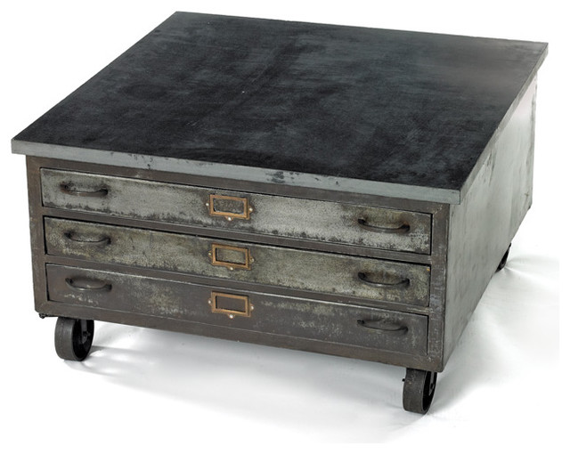 Industrial Metal Coffee Table On