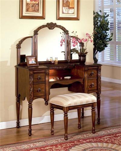 Oak Dressing Table Traditional Bedroom Makeup Vanities Orange Cou
