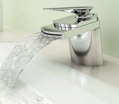 Chrome Waterfall Bathroom Faucet Mixer Tap 0261A - contemporary