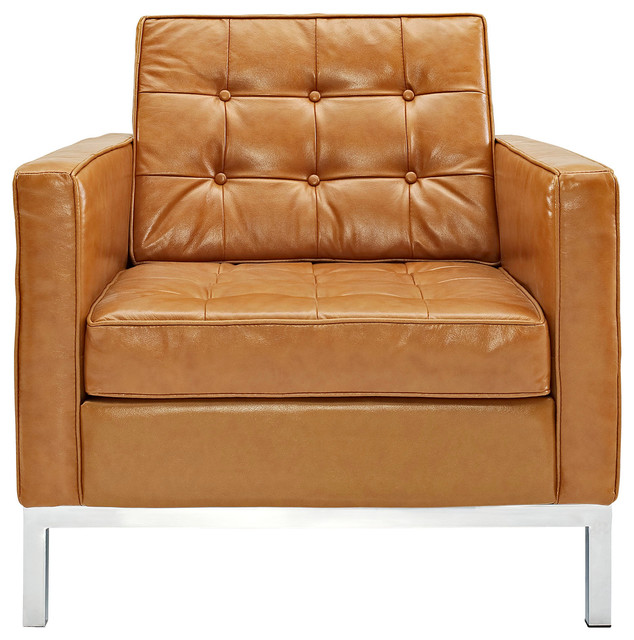 Loft Leather Armchair in Tan modern-armchairs-and-accent-chairs