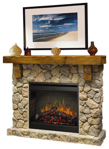 Dimplex Electraflame Fieldstone Natural Stone Free Standing Electric Fireplace Rustic Indoor Fireplaces