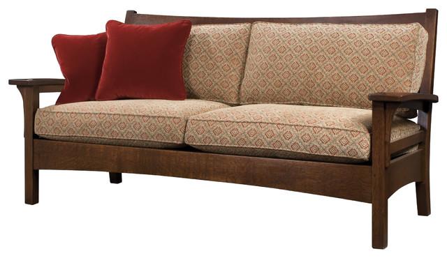 arts crafts style sofa. Black Bedroom Furniture Sets. Home Design Ideas
