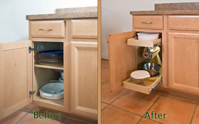 Single-Height Glide-Out Shelves kitchen-drawer-organizers