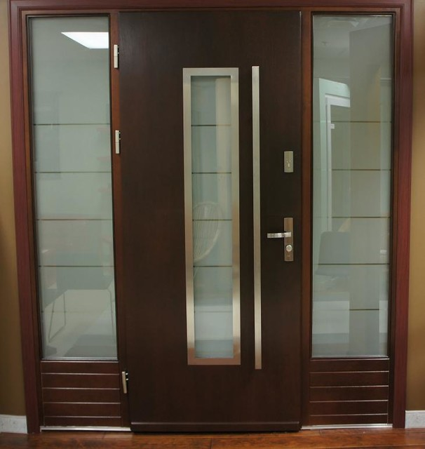 Modern exterior door model 064 contemporary front for Modern exterior doors