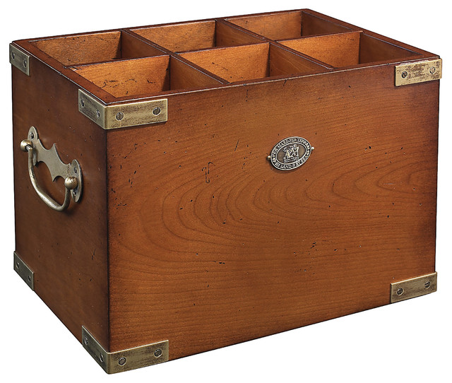 6-Cubby Wooden Box - Traditional - Storage Bins And Boxes - by Authentic Models