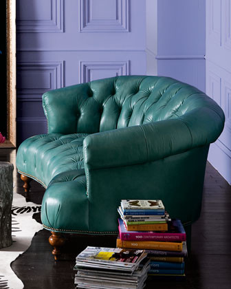 Old Hickory Tannery Turquoise Sofa traditional-sofas