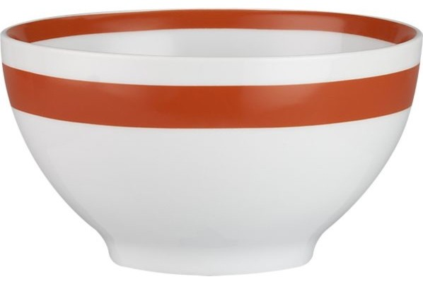 "Orange Stripe 6"" Bowl modern-dining-bowls"