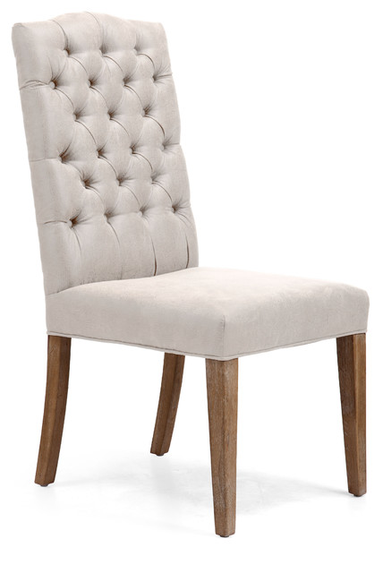 Gough Chair Beige (set of 2) transitional-dining-chairs