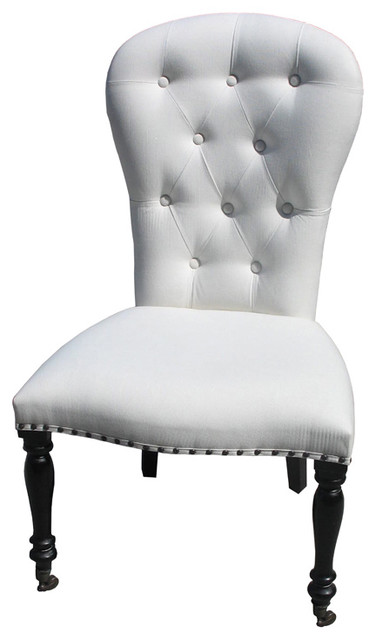 Bella side chair with casters traditional living room chairs