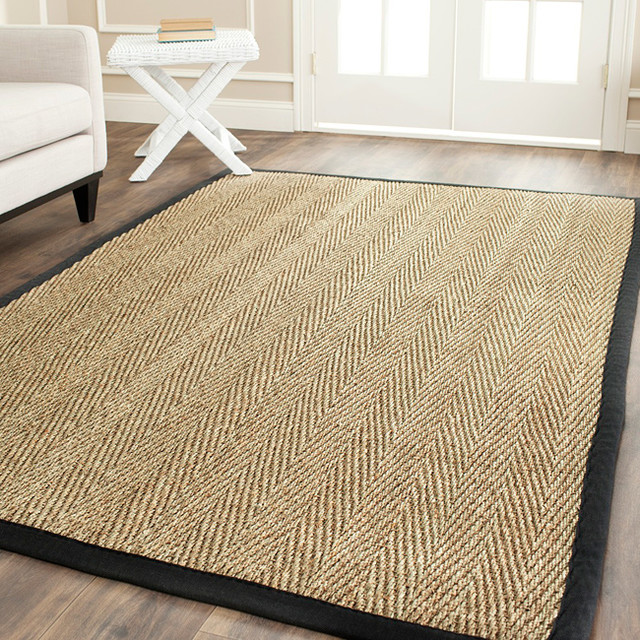 Safavieh Hand-woven Sisal Natural/ Black Seagrass Rug (8u0026#39; x 10u0026#39;) - Contemporary - Rugs - by ...