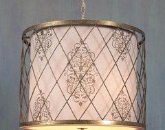 Harlequin Cage Drum Shade Lantern lamp-shades