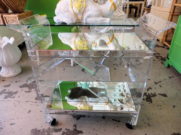 Lucite Bar Cart modern-bar-carts