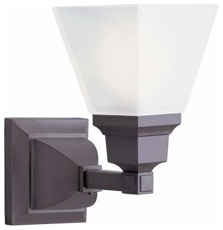 Mission Bronze One-Light Bath Fixture traditional-bathroom-vanity-lighting