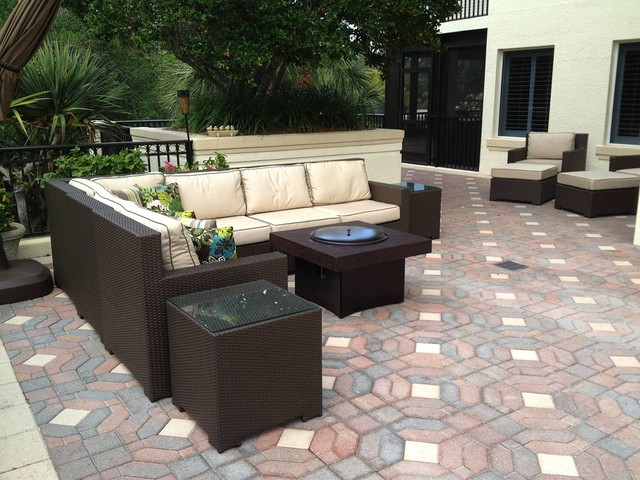 Outdoor Furniture Set with Gas Fire Pit