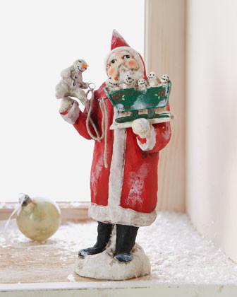 Debbee Thibault Snowy Christmas Fun Santa Figure traditional-holiday-decorations