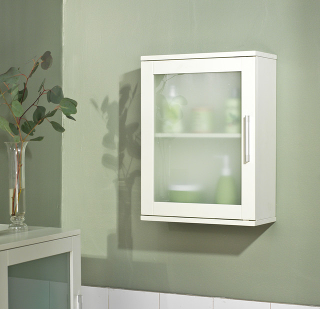 Frosted Pane Wall Cabinet - Contemporary - Medicine Cabinets - by Overstock.com