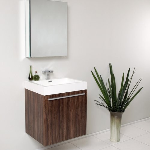 Fresca Alto 23-in. Modern Single Bathroom Vanity & Medicine Cabinet contemporary-bathroom-vanities-and-sink-consoles