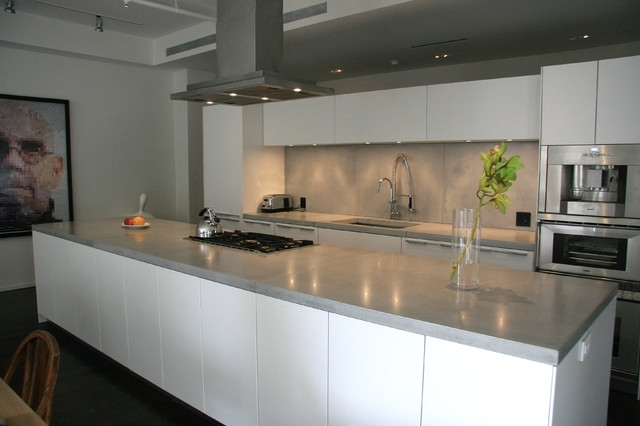 Concrete kitchen countertops - modern - kitchen countertops - new