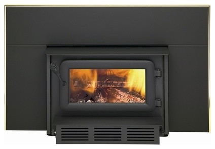 Flame XTD 1.5-I Small Woodburning Insert with Black Faceplate traditional-fireplaces