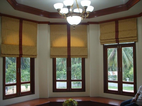 Villa tanamera asian roman shades other metro by for Asian window coverings