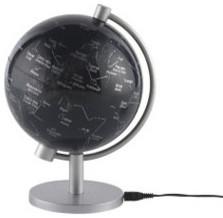 5-Inch Illuminated Star Globe by Stellanova contemporary-home-decor