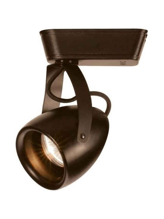 "WAC - WAC Impulse 40 Degree Bronze 23W LED Track Head for Juno - Impulse track head for Juno track systems. Dark bronze finish. 40 degree beam spread. Includes integrated 23 watt LED. Light output is 1366 lumens. Comparable to a 100 watt halogen bulb. 3000K color temperature. CRI is 90. Average bulb life is 60000 hours when used 3 hours a day. Dimmable down to 10 percent with ELV dimmer. Die-cast aluminum construction. 360 degree horizontal rotation and 180 degree vertical aiming. Title 24 compliant. Free of UV and IR radiation. 7 1/4"" high. 4"" wide.  Impulse track head for Juno track systems.  Dark bronze finish.  40 degree beam spread.  Includes integrated 23 watt LED.  Light output is 1366 lumens.  Comparable to a 100 watt halogen bulb.  3000K color temperature.  CRI is 90.  Average bulb life is 60000 hours when used 3 hours a day.  Dimmable down to 10 percent with ELV dimmer.  Die-cast aluminum construction.  360 degree horizontal rotation and 180 degree vertical aiming.  Title 24 compliant.  Free of UV and IR radiation.  7 1/4"" high.  4"" wide."