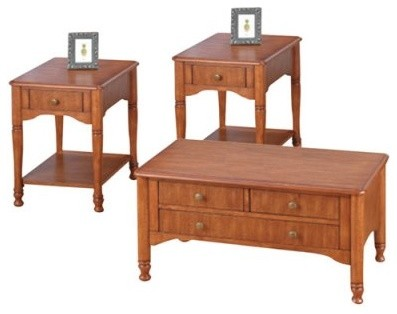 Jofran Cottage Storage Coffee and End Table Set modern-coffee-tables