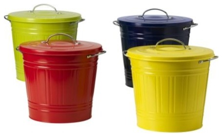 KNODD Bin with lid modern waste baskets