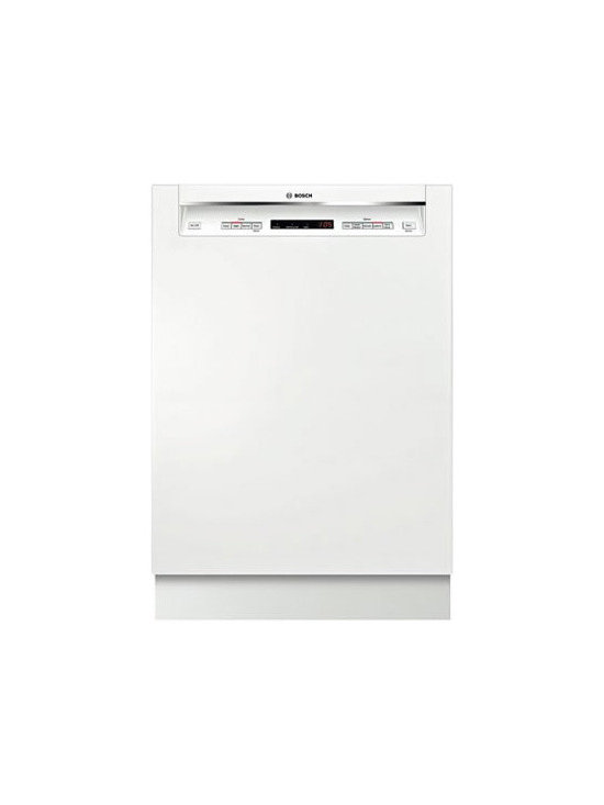"""Bosch 24"""" Recessed Handle 300 Series Dishwasher, White 