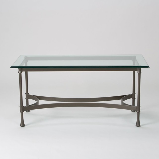 Biscayne Coffee Table With Glass Top Traditional Coffee Tables By Ethan Allen