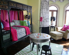 Design Project - Mountain Forest River Bend - Shanghai China - Green Antiques asian-bedroom