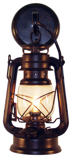 Wall Mounted Lantern Lamp : Rustic Lantern Wall-Mounted Light - Rustic - Outdoor Wall Lights And Sconces - by Muskoka ...