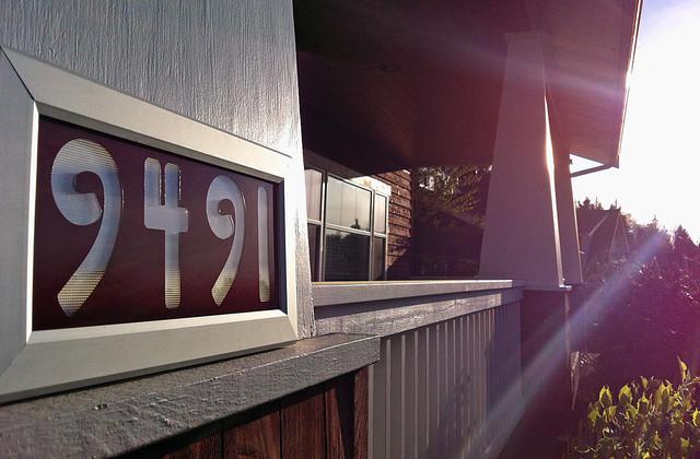 AddressLED weatherproof illuminated address frame outdoor-lighting
