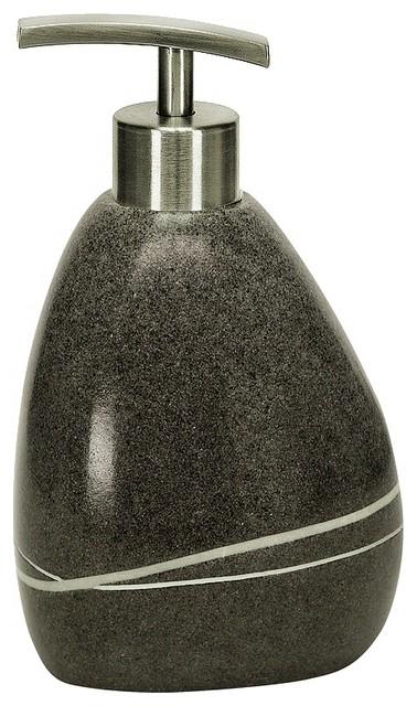 Unique Stone Soap Dispenser 10oz Dark Grey Modern Bathroom Accessories Other Metro By