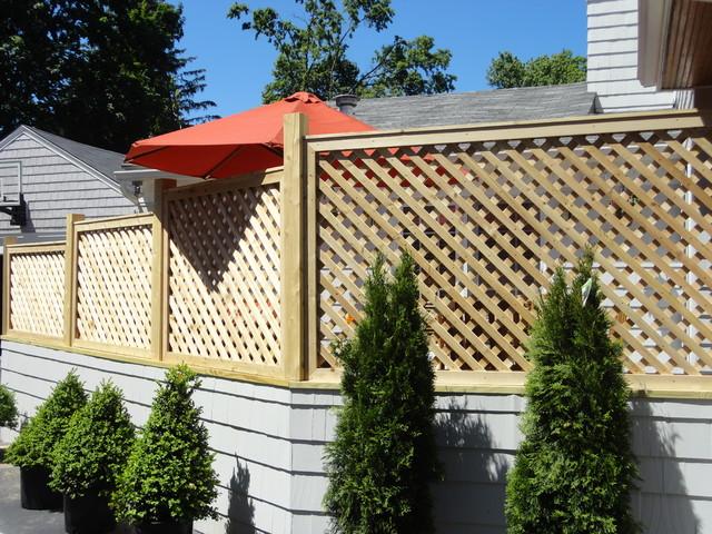 Cedar lattice screens and enclosures other metro by west hartford