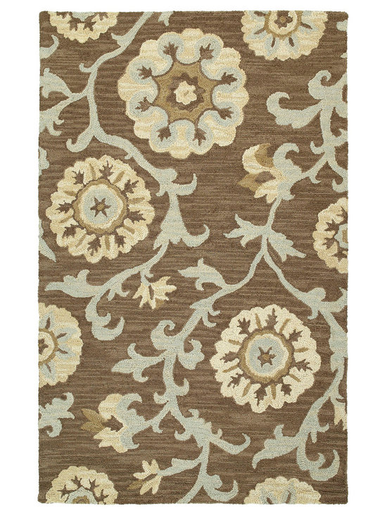 Kaleen - Kaleen Carriage Collection 6102-68 8' x 10' Graphite - Carriage is a warm and casual rug as comfort and as much a part of the family as that favorite sweater.  As all Kaleen products Carriage is only made of the finest materials.  Hand Tufted Loop construction made in India of 100% Premium Virgin Wool.