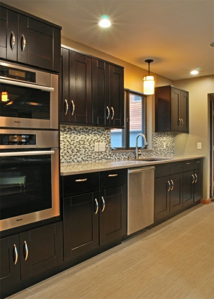 Mocha Shaker Kitchen Cabinets kitchen cabinets