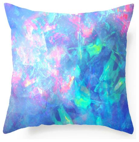 Blue Opal Texture Decorative Throw Pillow, 18x18 - Modern - Decorative Pillows - by C Ya Monday