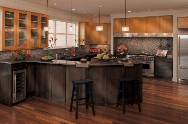 Canyon creek millennia valley forge in maple vg fir for Canyon creek kitchen cabinets