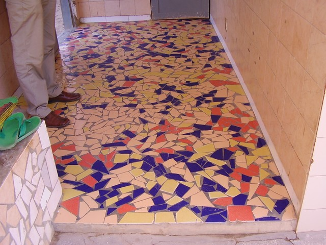 tropical entry tiles