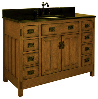 48 american craftsman single vanity traditional bathroom vanities and sink consoles san for Bathroom vanities san diego