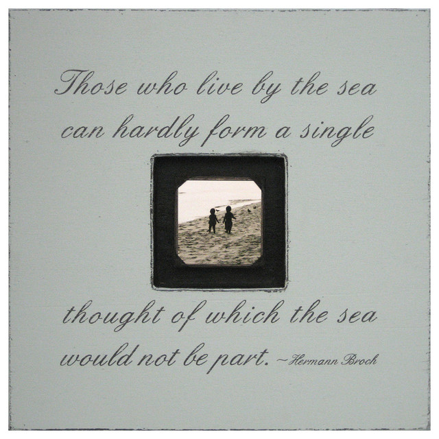 Painted Wood Rustic Photo box - Those Who Live By The Sea - French Gray transitional-prints-and-posters