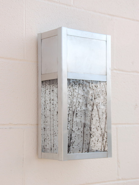 Stainless steel dark sky compliant wall sconce - This is one of a series of dark sky compliant lighting we have produced here in our studio in Austin, TX.