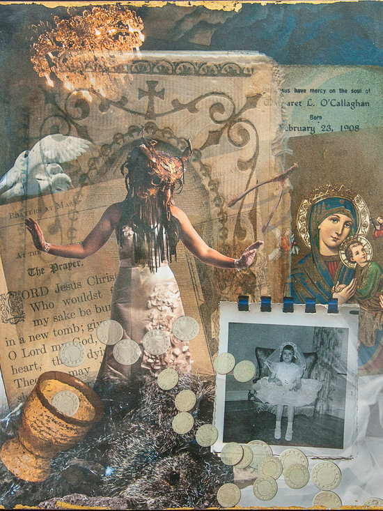 The First and The Holy - A photomontage of a young girl's First Holy Communion.
