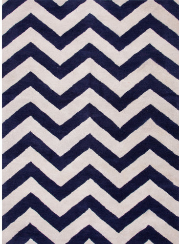 Traverse Deep Navy Geometric Rug modern-rugs